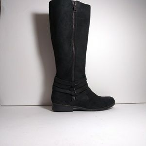 Steve Madden Alvinnn Oiled Suede Black Boots Sz8.5